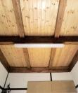 ムク材で仕上げた天井はナチュラル感がいっぱい。